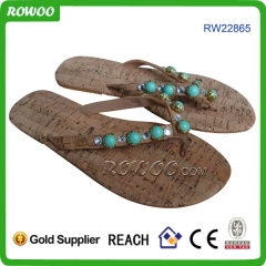 Natural wood Beach Sandal For Lady