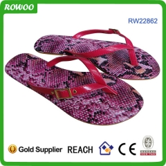 Fashion Snake Leather Lady Sandals